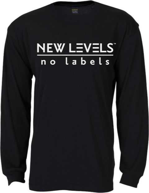 NEW LEVELS|No Labels Mens T-Shirt - Long Sleeve