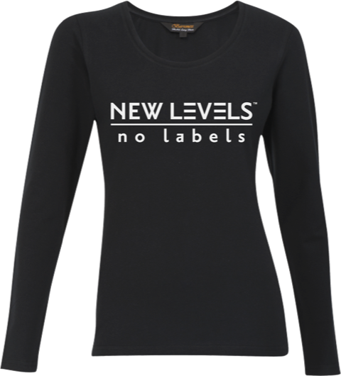 NEW LEVELS|No Labels Womens T-Shirt - Long Sleeve